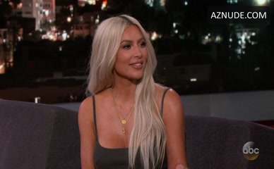 KIM KARDASHIAN WEST in Jimmy Kimmel Live