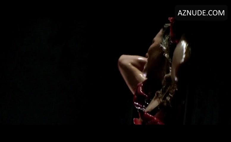 Naked girl climbing