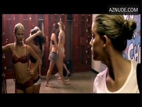 Qupid bikini ruffle slingback wedge